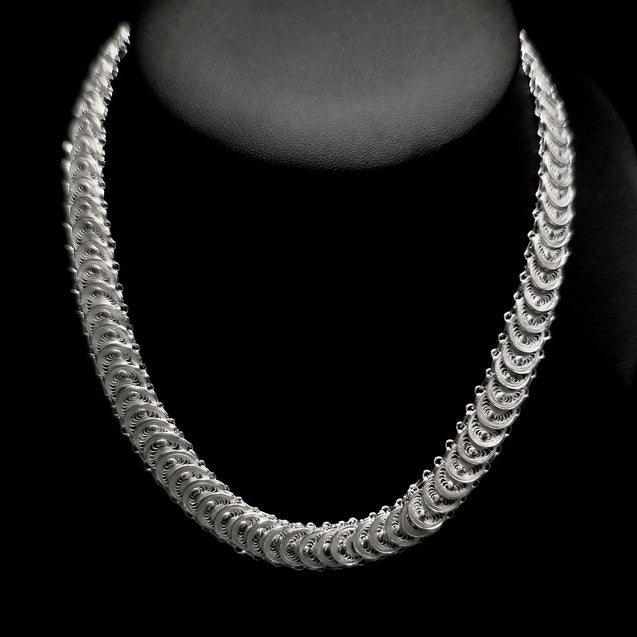 "Handmade Necklace ""Infinity"" Filigree Silver Jewelry from Cyprus"