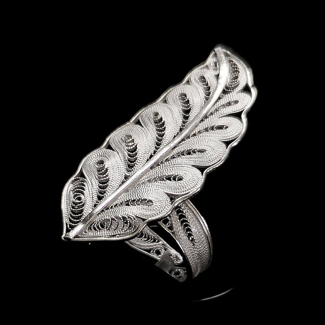 "Handmade Ring ""Rebirth"" Filigree Silver Jewelry from Cyprus"