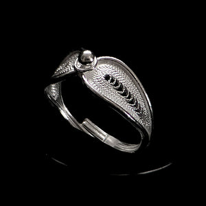 "Handmade Ring ""Reflect"" Filigree Silver Jewelry from Cyprus"