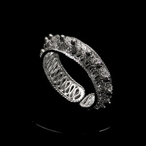 "Handmade Ring ""Droplets"" Filigree Silver Jewelry from Cyprus"
