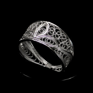 "Handmade Ring ""Luck"" Filigree Silver Jewelry from Cyprus"