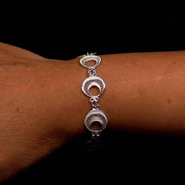 "Handmade Set ""Analogy"" Filigree Silver Jewelry from Cyprus"