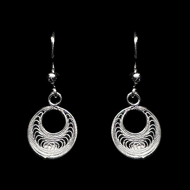 "Handmade Set ""Eclipse"" Filigree Silver Jewelry from Cyprus"
