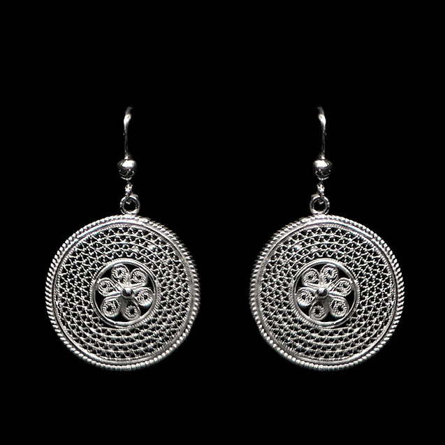"Handmade Set ""Cosmos"" Filigree Silver Jewelry from Cyprus"