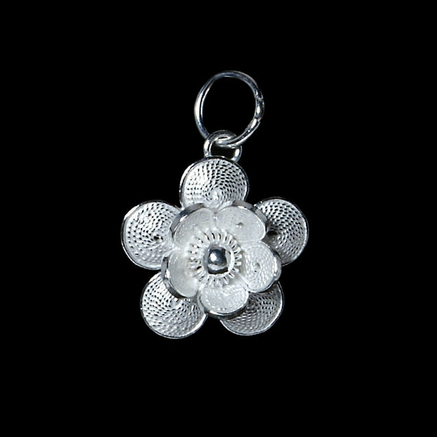 "Handmade Pendant ""Offspring"" - Pendant -  Lefkara Silver Jewellery  - Handmade silver filigree jewelry made in Cyprus"