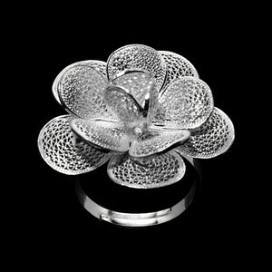 "Handmade Ring ""Hope"" - Ring -  Lefkara Silver Jewellery  - Handmade silver filigree jewelry made in Cyprus"