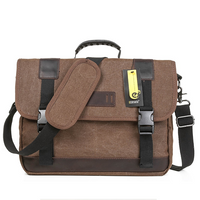ECOSUSI Vintage 14.7-inch Shoulder Laptop Bag for Men, Khaki (L009053)