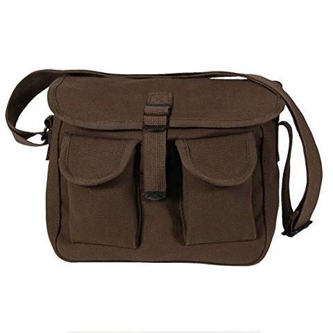 Rothco Canvas Ammo Shoulder Bag - Brown (L009055)