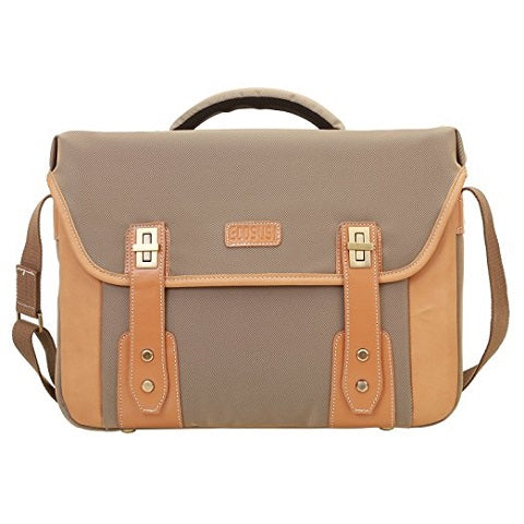 "ECOSUSI  Nylon Laptop Messeger Bag Crossbody Shoulder Bag Fits 14.7"" Laptops Khaki (L009059)"