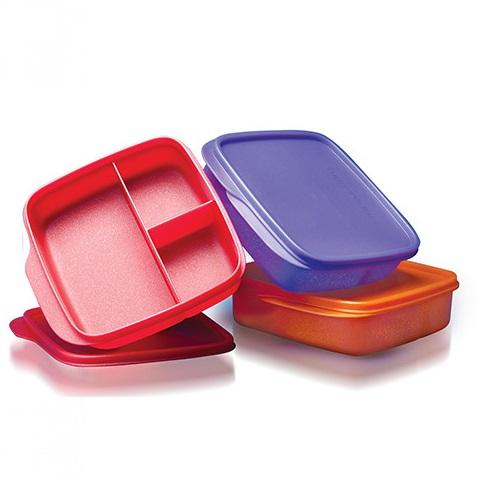 Tupperware Glitter Square Divided Lunch Box (AC0003/4/5)