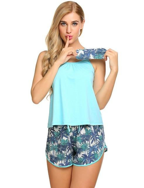 Port Douglas Summer Pyjama Set & Eye Mask