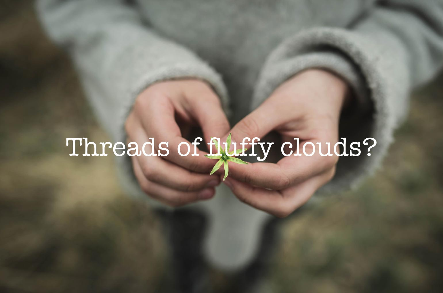 Threads of fluffy clouds