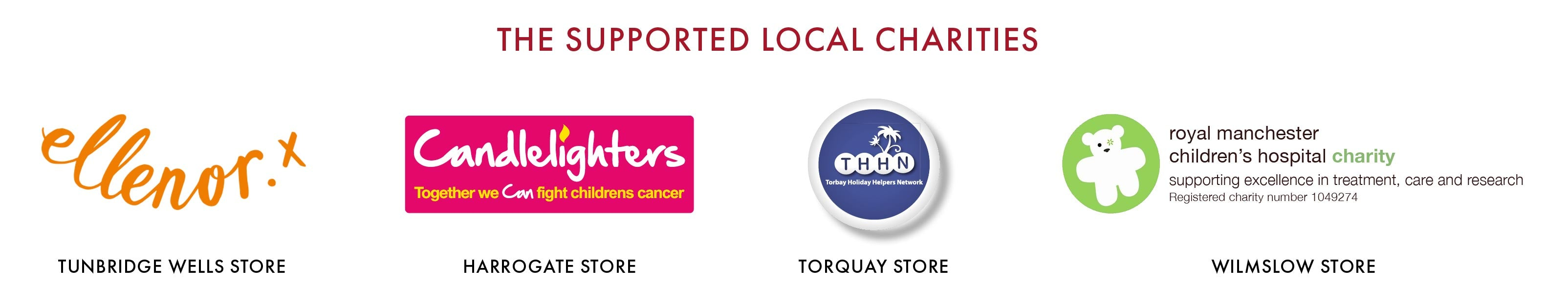 Supported local charities