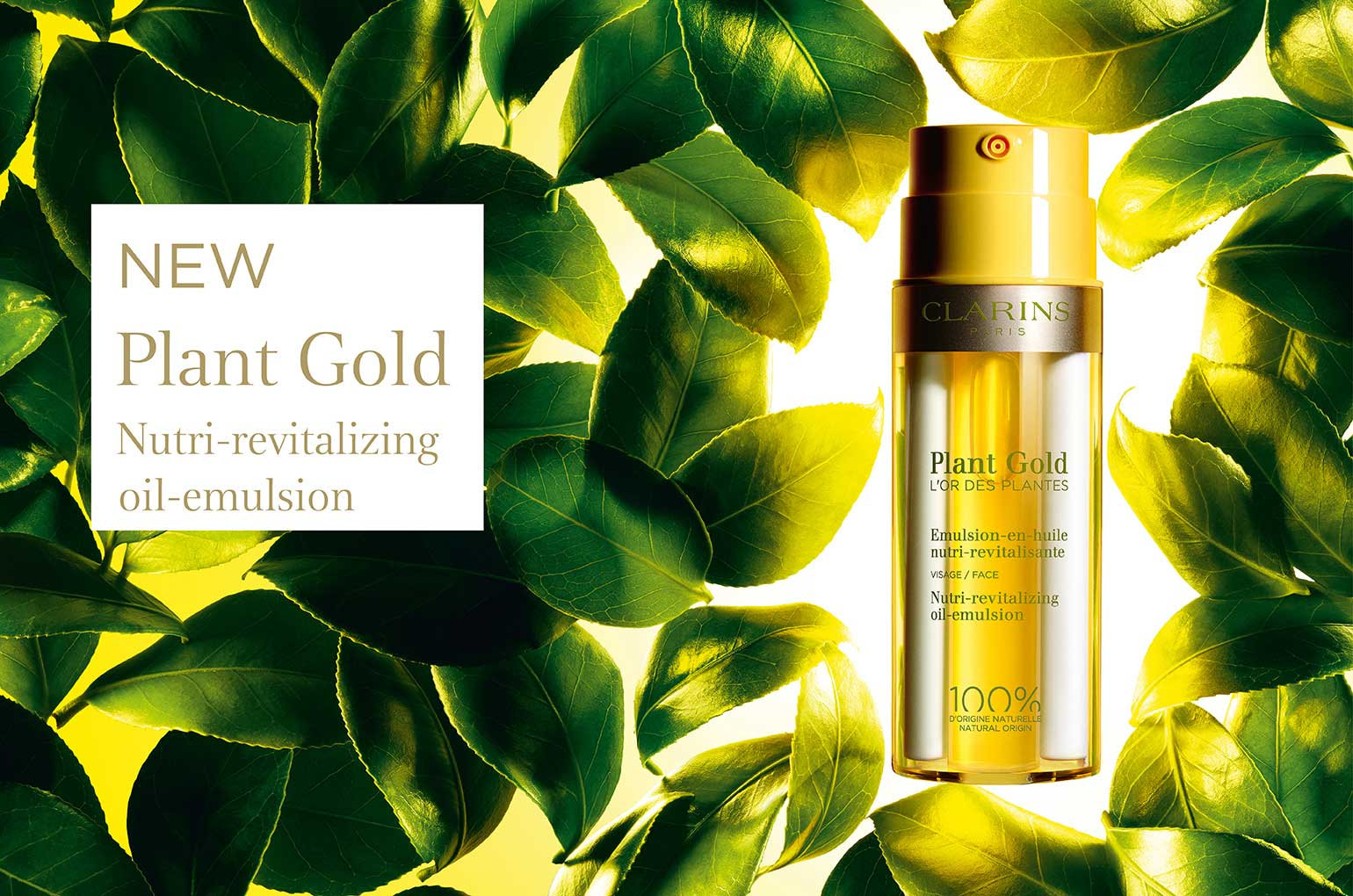NEW for 2020 is Clarins Plant Gold