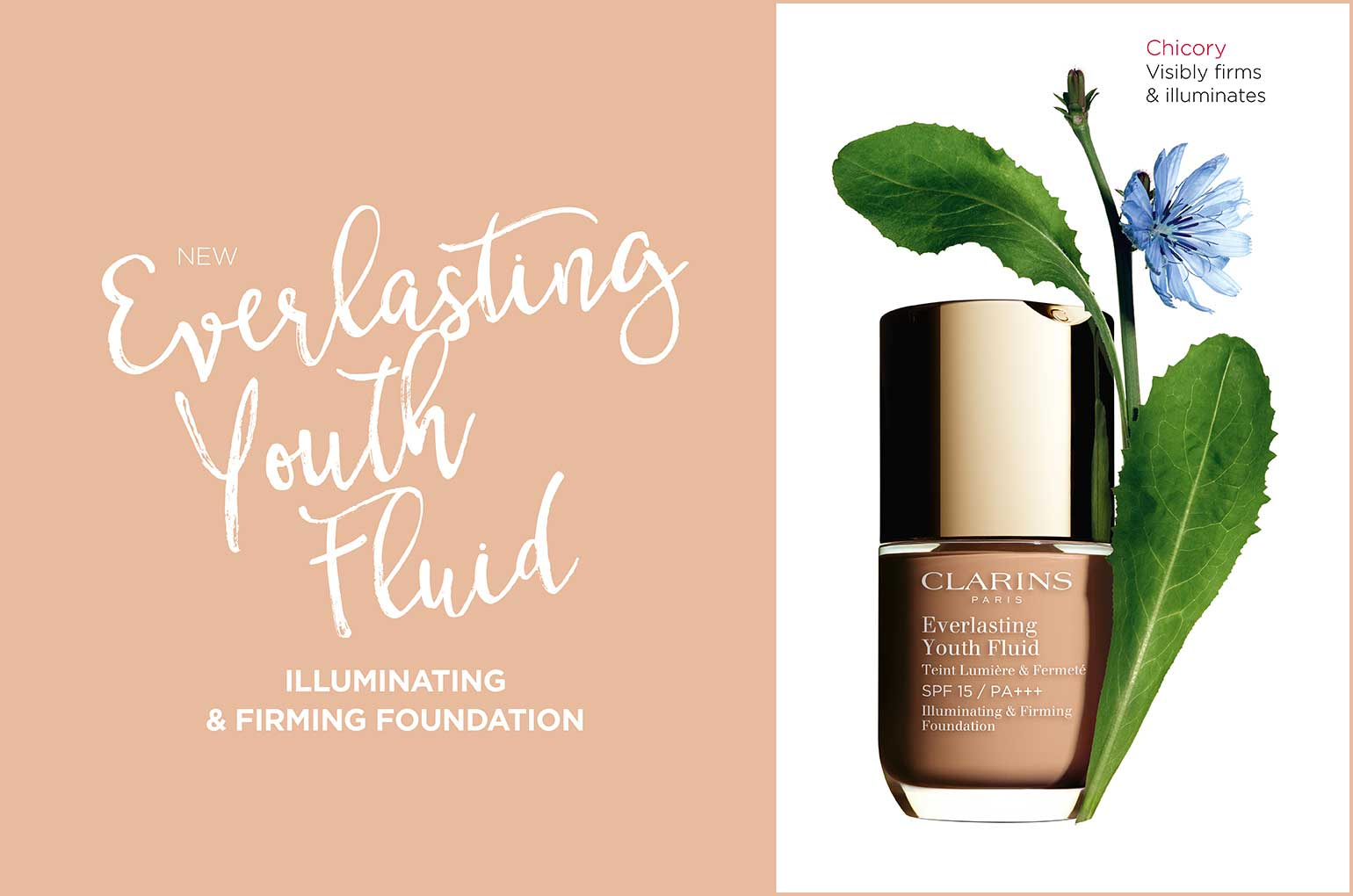 NEW Clarins Everlasting Youth Fluid