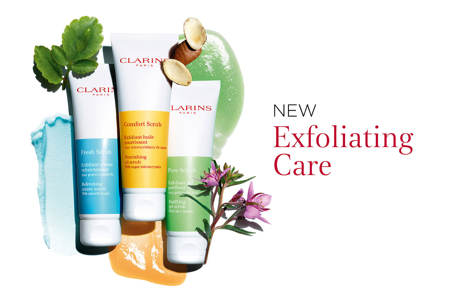 NEW Clarins Scrub collection