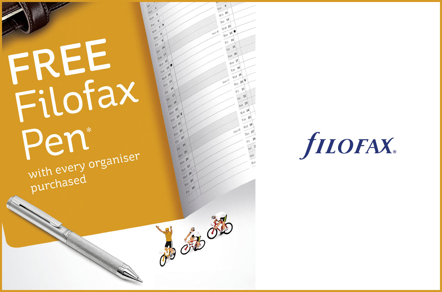 Free Filofax Pen with any Filofax Organiser Purchased