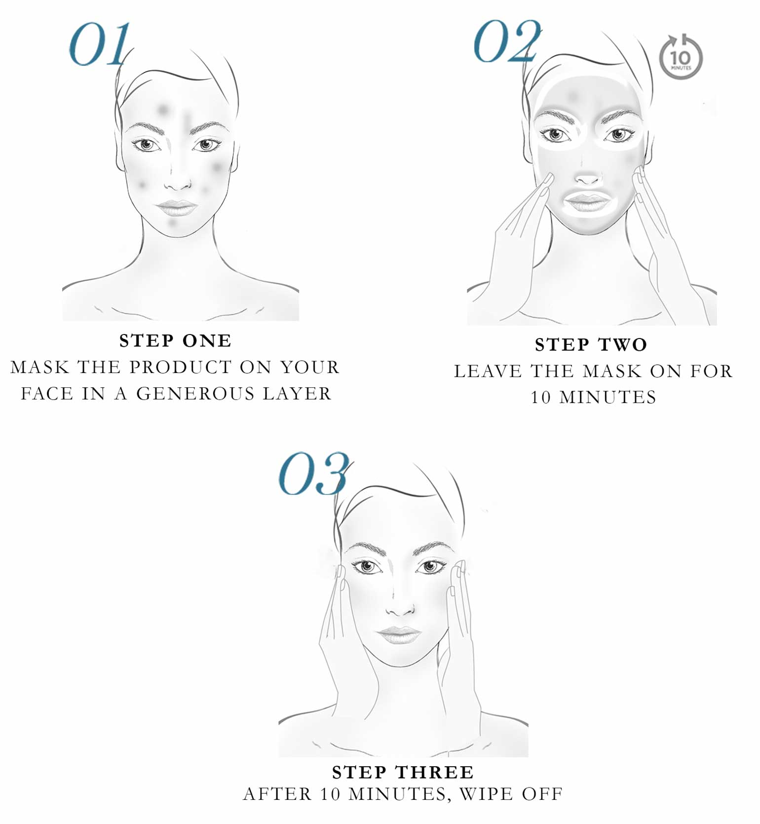 How to apply the Lancôme Rénergie Multilift Tightening Lifting Mask