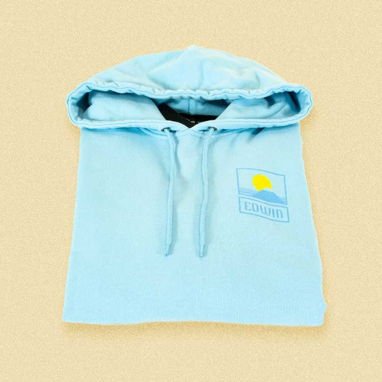 Dodge the bad weather with a Edwin hoodie