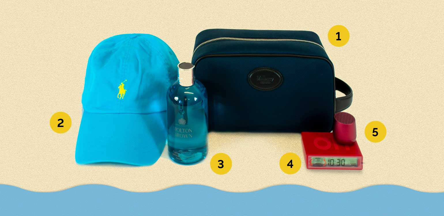 Pack these summer essentials in your holdall