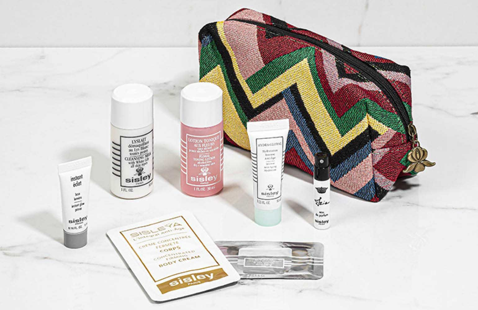 Your complimentary beauty bag from Sisley
