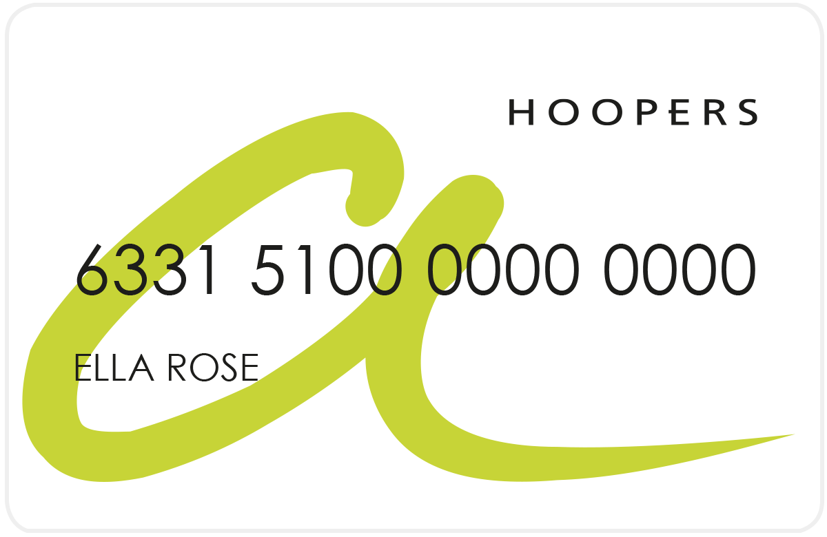 Hoopers Account Card