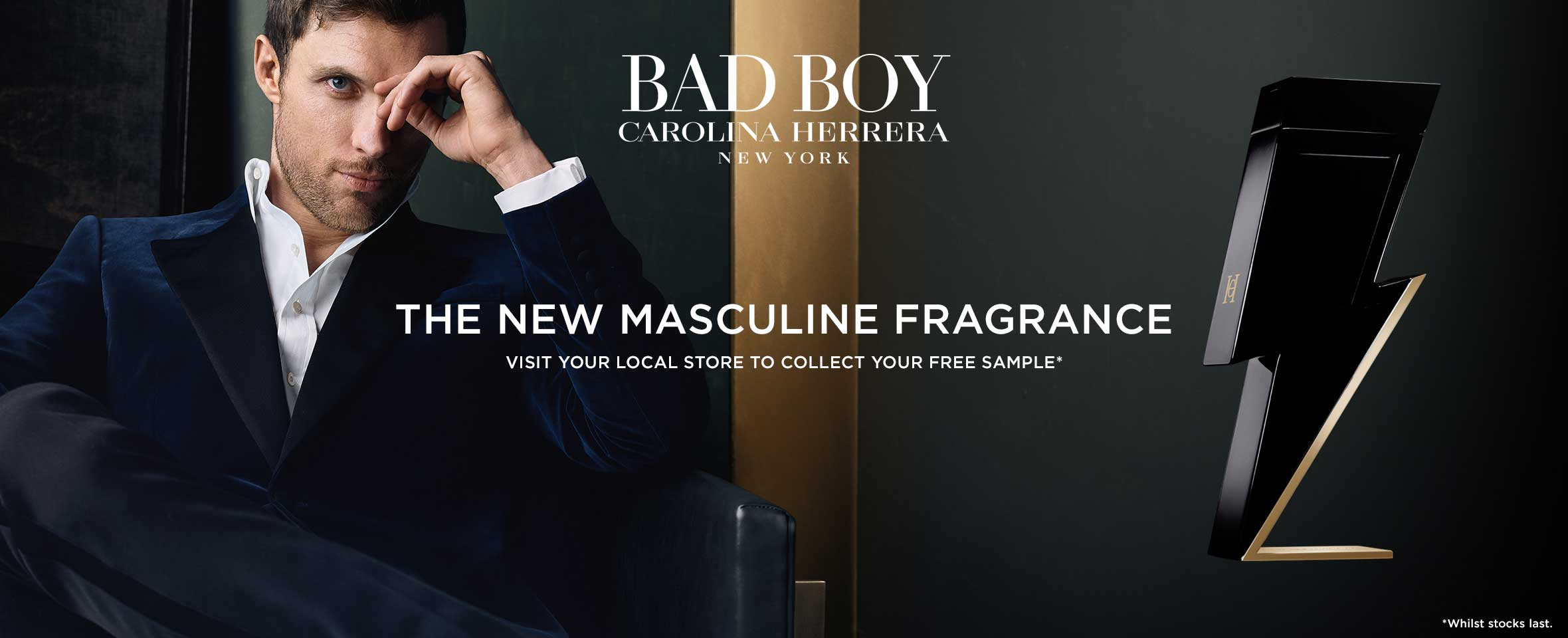 Discover Bad Boy, the new masculine fragrance from Carolina Herrera