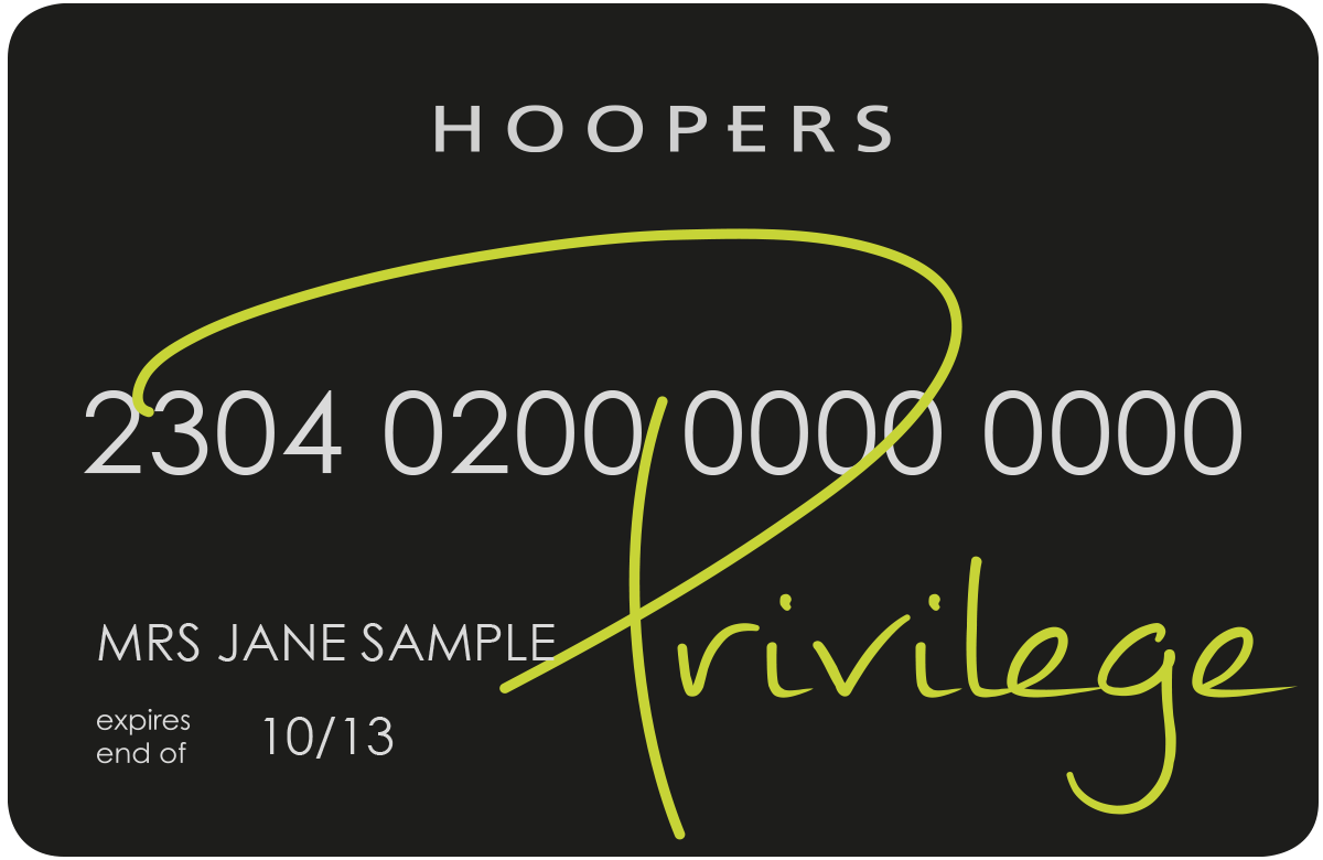 The Hoopers Privilege Card