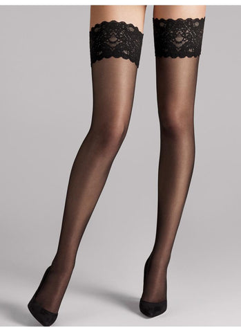 Wolford Tights Satin Touch 20 Stay Up Black