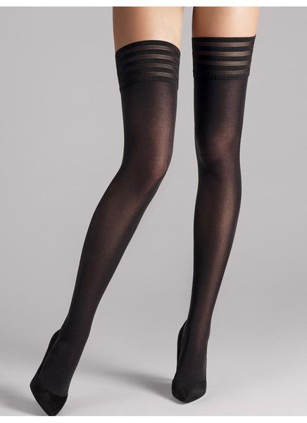 Wolford Stay Up Velvet De Luxe 50 Black