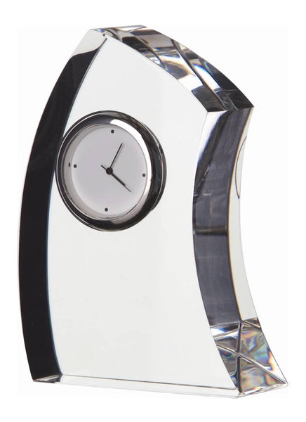 Dartington Clear Crescent Medium Clock