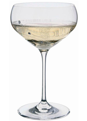 Dartington Glitz Stemware Pair of Champagne Saucers with Crystallized Swarovski Elements
