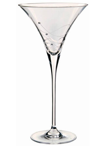 Dartington Glitz Stemware Pair of Martini Glasses with Crystallized Swarovski Elements