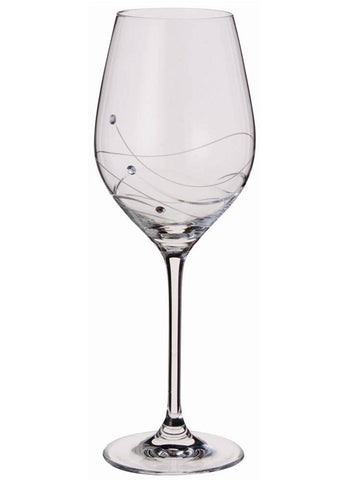 Dartington Glitz Stemware Pair of Wine Glasses with Crystallized Swarovski Elements