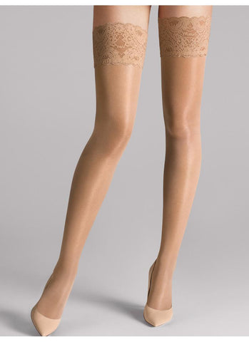 Wolford Tights Satin Touch 20 Stay Up Caramel