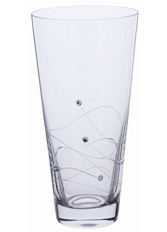 Dartington Glitz Conical Vase Small with Crystallized Swarovski Elements