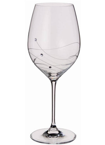 Dartington Glitz Stemware Pair of Goblet Glasses with Crystallized Swarovski Elements