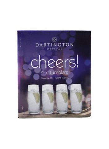 Dartington Cheers! Set of 4 Tumblers