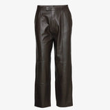Day Birger Et Mikkelsen Day Pigeon Dark Brown Leather Trousers