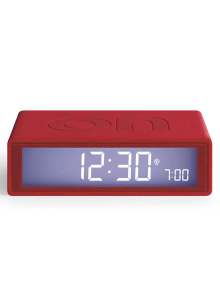 Lexon Flip RCC Alarm Clock Red