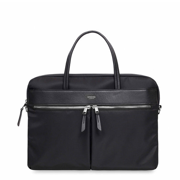 "Knomo Hanover Laptop Briefcase 14"" Black"