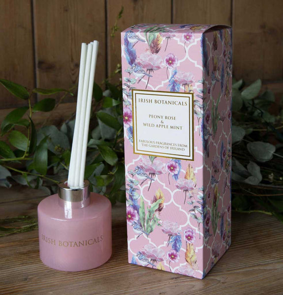 Irish Botanicals Peony & Wild Apple Mint Diffuser 100ml