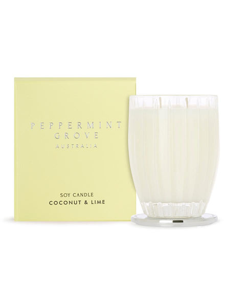 Peppermint Grove Coconut & Lime Large Candle 350g