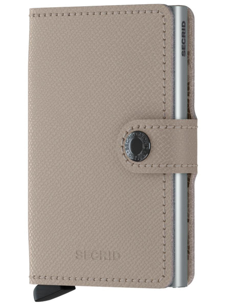 Secrid Miniwallet Leather Crisple Taupe - Camo