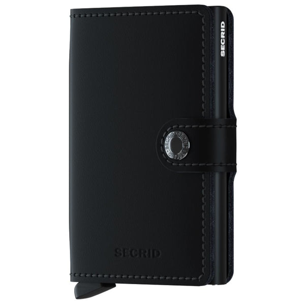 Secrid Miniwallet Leather - Matte Black