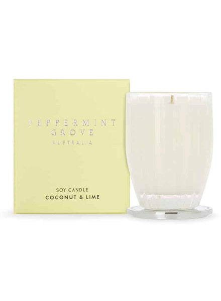 Peppermint Grove Coconut & Lime Medium Candle 200g