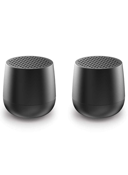 Lexon Twin MINO Bluetooth Speaker Set Black