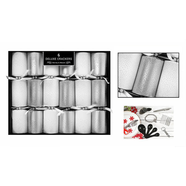 Harvey & Mason 6 Deluxe Silver Scatter Crackers