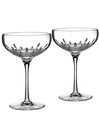 Waterford Lismore Essence Pair of Champagne Saucers