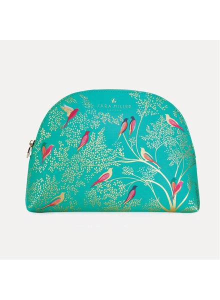 Sara Miller Green Birds Large Cosmetic Bag